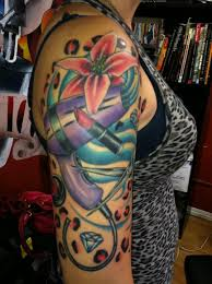 colorful dryer with blue flowers on half sleeve