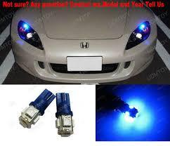 blue free light bulbs free shipping 2pcs lot blue 168 2825 2827 5 smd led bulbs parking
