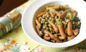 spicy coconut black eyed peas with spinach u0026 carrots weekly menu