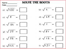 square root math worksheets u0026 square roots and cube roots