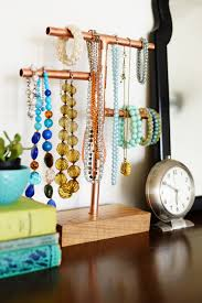 jewelry necklace holder stand images 11 diy necklace storage ideas jpg