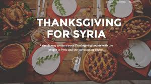 this site lets you your thanksgiving meal with syrian refugees
