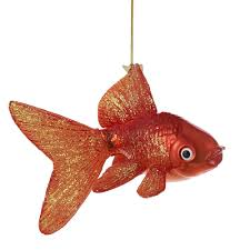 kurt adler noble gems glass goldfish ornament 5 inch