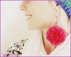 hungryhippie sews pom pom earrings diy fashion