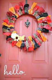 fall bandana wreath 12 months of wreaths