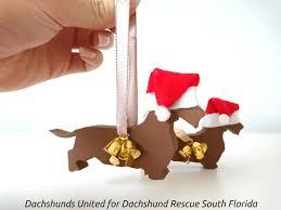 wooden dachshund ornament dachshunds united