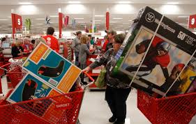 black friday time at target target shoppers wait in line online on cyber monday wired