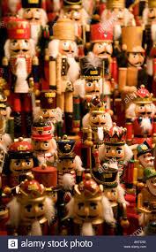 closeup of nutcrackers on sale nurnberg chritmas market germany