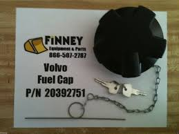 20392751 volvo locking fuel cap with keys wheel loader l60 l90
