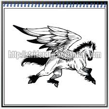 tattoo design 008 pegasus by striderden on deviantart