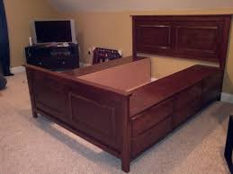 King Size Platform Bed Frame With Storage Plans by Queen Size Bed With Drawers Custom Queen Size Bed With Tiered