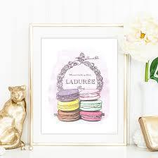 macaron laduree watercolour illustrated art luxury treats and