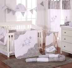Baby Crib Bed Sets Grey 4 Pc Crib Bedding Set Unisex Crib Bedding