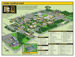 Montana State University Campus Map by Main Campus Map Tyler Junior College