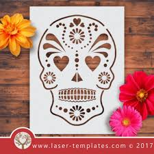 laser cut templates about angels african masks sugar skulls and