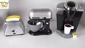 Elc Wooden Toaster Set Toy Coffee Maker Toaster U0026 Stand Mixer Kids Gourmet Kitchen