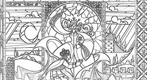 beauty beast coloring pages fairy tale