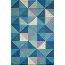 Modern Blue Rug Shop For Cosmopolitan Diamonds Blue Hand Tufted Wool Rug 2 U00273 X 8