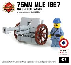 french 75 gun brickmania world war i kit archive brickmania blog