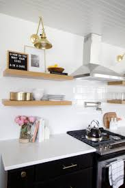 where to buy glass shelves for kitchen cabinets how to style open shelves in the kitchen the diy playbook
