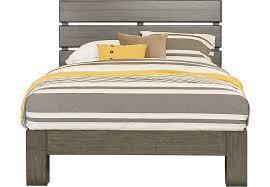 urban plains gray 3 pc king slat platform bed king beds colors