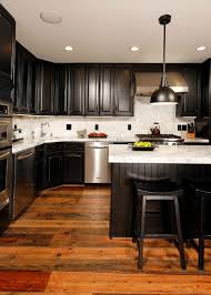 black kitchen cabinets flooring kitchens with black cabinets pictures and ideas