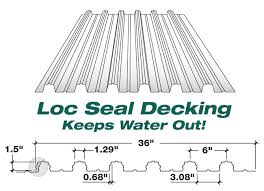 powers steel decking loc seal decking corrugated metal roofing