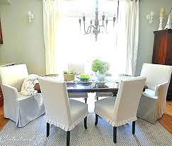 Slip Covers Dining Room Chairs Fascinating Slip Covered Dining Chair Starlize Me