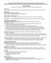 teaching resume template experienced elementary resume best resume collection