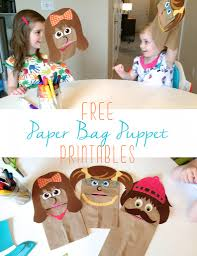 free printable paper bag puppets paper bag puppets printable