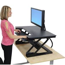 Standing To Sitting Desk Back And Adjustable Standing Desks Inversiontableplus