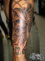 Forearm Skull - aztec skull for forearm tattoos book