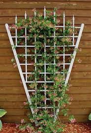 painted white fan trellis outdoor fan trellis in your garden