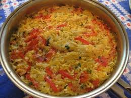 a simple spanish recipe for rice with salt cod arroz con bacalao