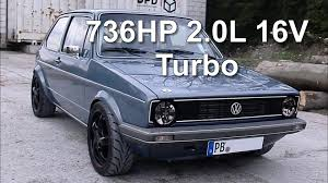 vintage volkswagen rabbit vw golf mk1 736hp 2 0l 16v turbo street race youtube