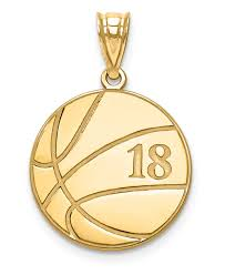 personalized basketball necklace personalized 14k gold basketball necklace with number and name