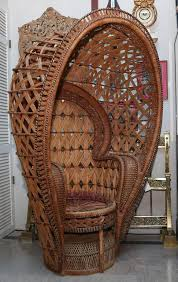 Cane Peacock Chair For Sale Quintessential Anglo Indian