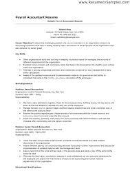 Payroll Manager Resume Payroll Accountant Job Description Resume Payroll Accountant