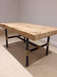 Pipe Coffee Table by Black Steel Threaded Pipe Table Legs Gives A Great Industrial Look