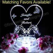 butterfly shaped lighted wedding cake topper acrylic