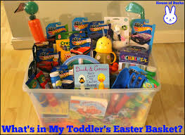 easter baskets for toddlers house of burke what s in my toddler s easter basket
