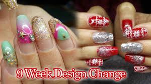 9 week infill acrylic nails christmas party nails notpolish