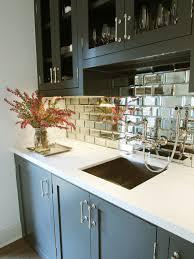 mirrored kitchen backsplash small beveled mirror tiles with marvelous design type