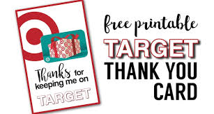 gift card free target thank you cards free printable paper trail design