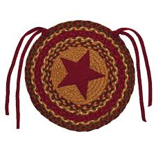 Home Spice Decor Braided Chair Pads Country Primitive By Ihf Set Of 4 Ebay