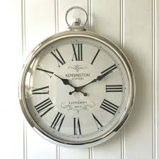 Large Wall Clocks by 1960s Wall Clock Modern Silver Round 3d Diy Frameless Large Mirror