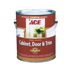 ace cabinet door u0026 trim semi gloss alkyd enamel paint gallon