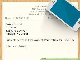 how to write a letter for proof of employment with sample letters