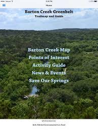 Greenbelt Austin Map by App Shopper Barton Creek Greenbelt Trail Map And Recreation Guide