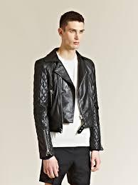 biker coat j w anderson j w anderson mens leather biker jacket in black for
